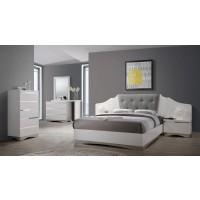 Alessandro Glossy White  4-Piece Bedroom Set