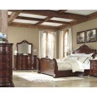 Martanny Sleigh 4-Piece Bedroom Set