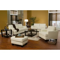 Samuel Cream Sofa and Loveseat