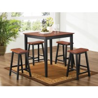 Jackie Two Toned 5-Piece Dining Set