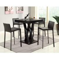 Modern Cross Counter Height 5-Piece Dining Set