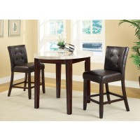 Leah 3-Piece Counter Height Dining Set