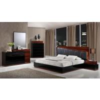 Lexi  Black and Wenge King 4-Piece Bedroom  Set