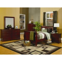 Louis Philippe Cherry 4-Piece Bedroom Set