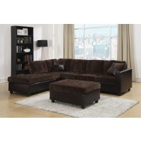 Mallory Espresso Two-Toned Sectional
