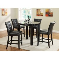 Malloy 5-Piece Counter Height Dining Set