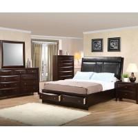 Phoenix Upholstered 4 Piece Bedroom Set