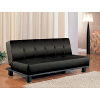 Courtly Black Futon