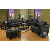 Samuel Black Sofa and Loveseat