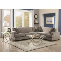 Tess Microvelvet Grey Sleeper Sectional