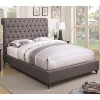 Sammy Grey Fabric Bed