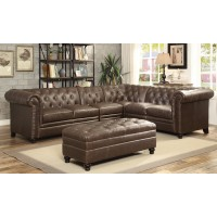 Adam Brown Tufted Sectional