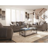 Jaime Grey Sofa and Loveseat