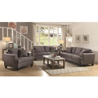 Samuel Grey Linen Sofa and Loveseat