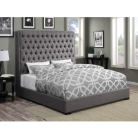 Valdin Upholstered Grey Bed