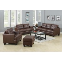 Samuel Brown Sofa and Loveseat