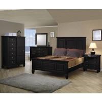 Sandy Beach Black 4-Piece Bedroom Set