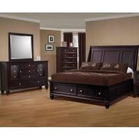 Sandy Cappuccino Collection 4 Piece bedroom Set