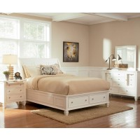 Sandy White Collection 4-Piece Bedroom Set