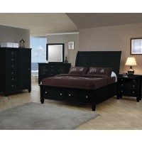 Sandy Black Collection 4 Piece Bedroom Set