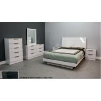 Sorrento Glossy Platform 4-Piece Bedroom Set