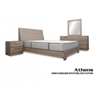 Athens Platform 4-Piece Bedroom Set