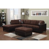 Mallory Chocolate Two-Toned Sectional