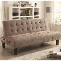 Mary Ann Taupe Bluetooth Futon