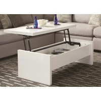 Charlotte White Lift-Top Coffee Table