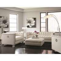 Arianna White Sofa, Loveseat & Ottoman