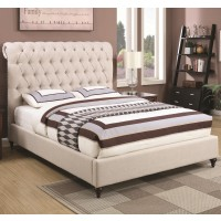 Sammy Beige Fabric Bed