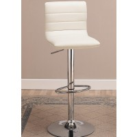 Urban White or Black  Upholstered Barstool