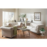 Roy Fabric Sofa and Loveseat
