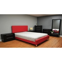Verona w/Mia Platform 4-Piece Bedroom Set