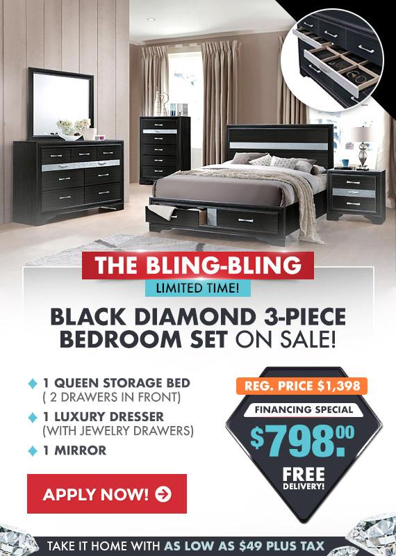 Black Diamond Bedroom Set